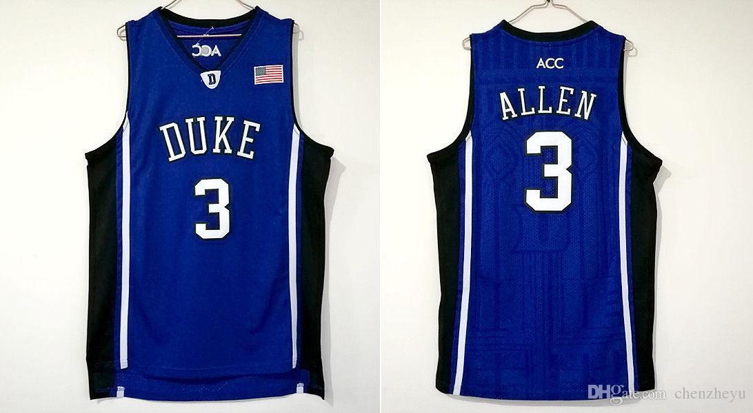 pretty nice 4f659 16ecf Grayson Allen Jersey #3 Duke Devils Sewn Basketball Stitched Jersey S-2XL  Blue