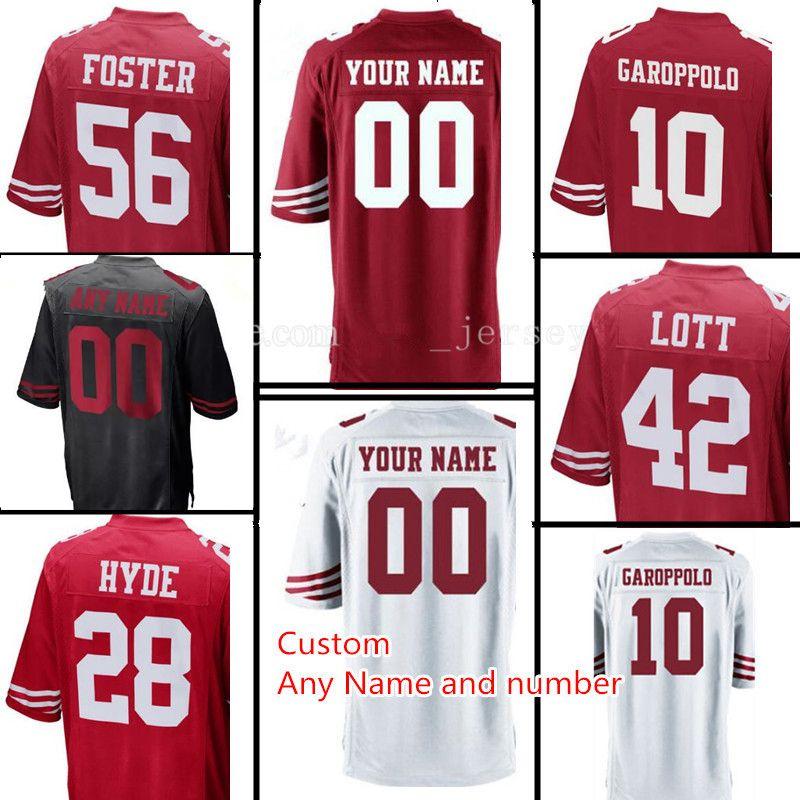 Custom Men s San Francisco 74 Joe Staley 28 Carlos Hyde 7 Colin Kaepernick 49er  Jersey 53 NaVorro Bowman 56 Reuben Foster Jerseys San Francisco 7 Colin ... 2465fd9f6