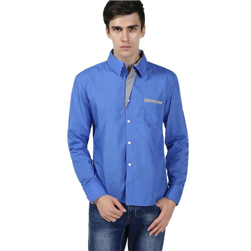 7b3ceb8f1c6 Compre NIBESSER Camisas Hombre Tallas Grandes Camisa Masculina Camisa De  Manga Larga Para Hombres Diseño Delgado Coreano Formal Casual Camisa De  Vestir ...