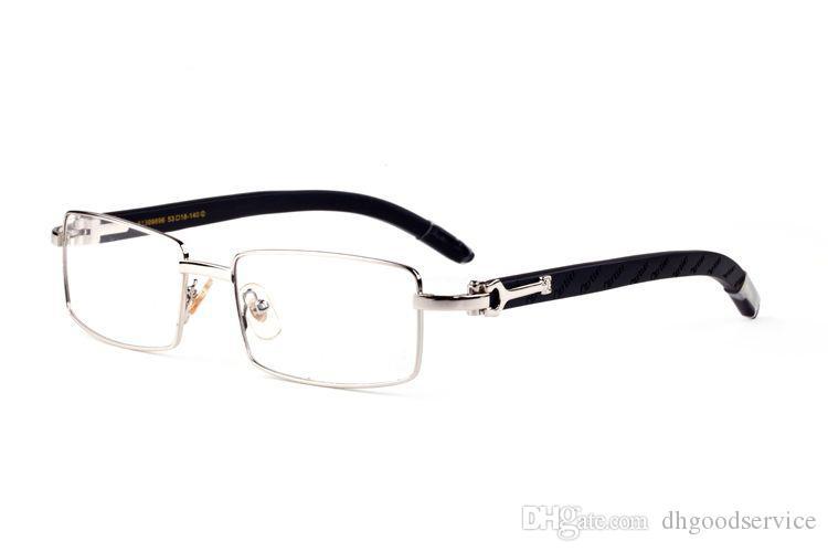 1d2b0eb4aee Spectacle Frame Buffalo Horn Sunglasses Wooden Optical Frame Square Eyewear  Round Brown Sunglasses Men Brand Luxury Clear Lenses C50 Sunglasses For Men  ...