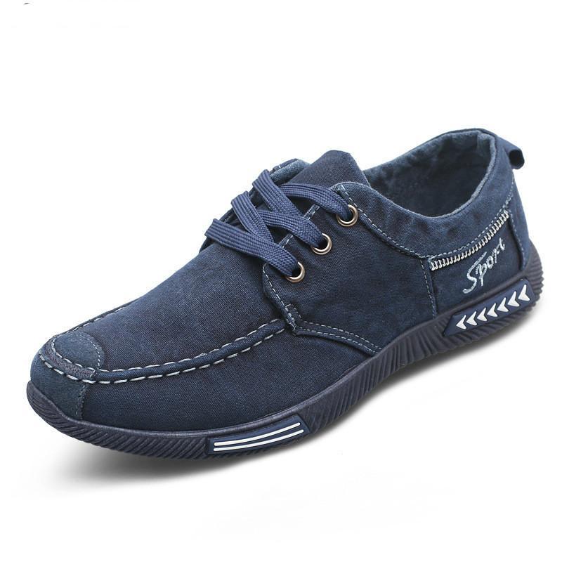 Canvas Men Shoes Denim Lace-Up Men Casual Shoes New 2017 Plimsolls ... 6d7e05ee3f52