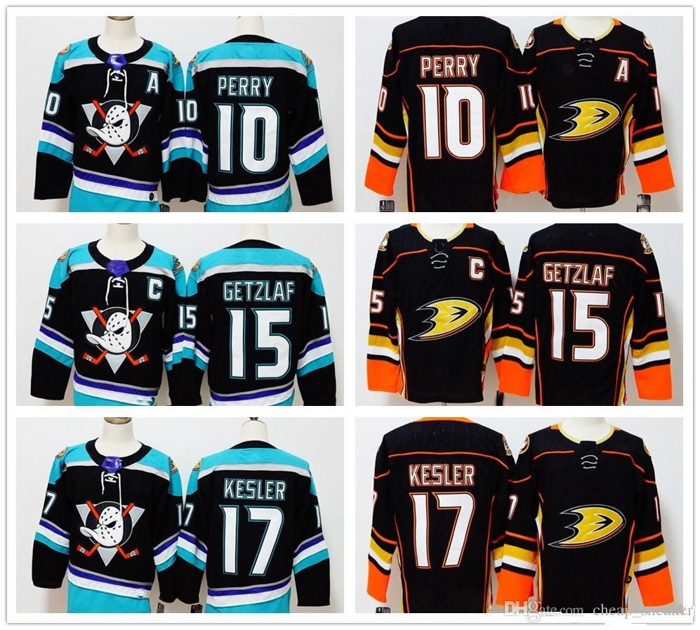 2018 Anaheim Ducks #10 Corey Perry #15 Ryan Getzlaf #17 Ryan Kesler Blank  NEW BRAND Hockey Jerseys Men Stitched Black Hockey Jerseys S-3XL