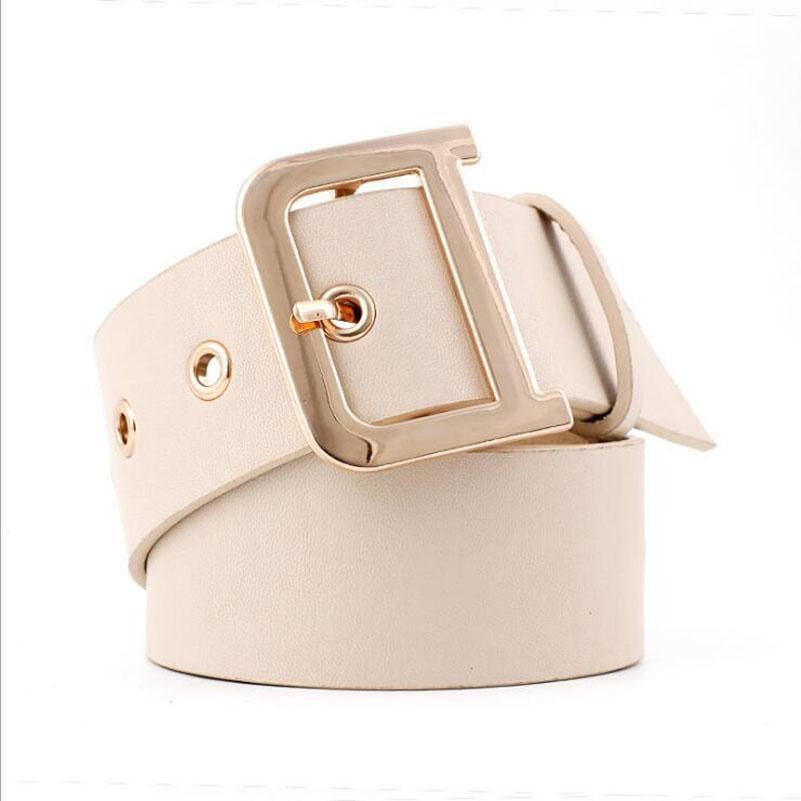 50c95ec657bf Compre 2018 Nueva Ancho Negro Blanco Ojal Cinturón Damas Mujer D Anillo  Cintura Corsé Cinturones Fajas Para Mujer Vestido Escudo Ceinture Femme A  $41.53 Del ...