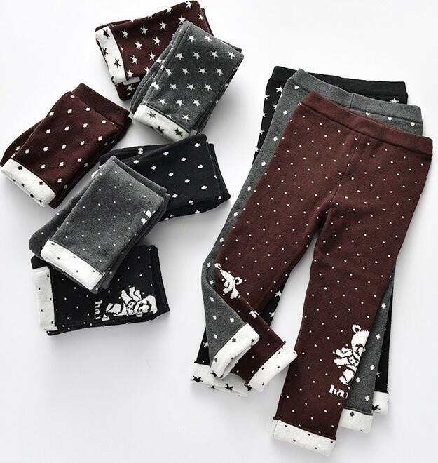 f50cb453d5 Pantaloni per bambini Orso Modello Pantaloni doppio strato Jacquart Stampe  complete 3 Disegni Scelta Grande lavorazione