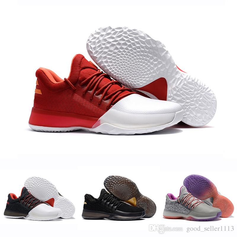93820f243b9e 2019 Classic James Harden Vol.1 Black History Month White Orange Gold Mens  Basketball Shoes Harden 1s Low Trainer Sports Sneakers 40 46 Sneakers On  Sale ...