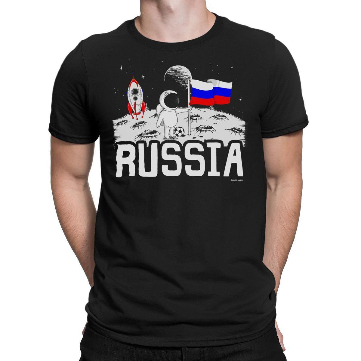87efed9d6 Mens RUSSIA T Shirt MOON Flag World Cup 2018 Football Funny Patriotic Gift  That T Shirt But T Shirts From Jie43, $14.67  DHgate.Com