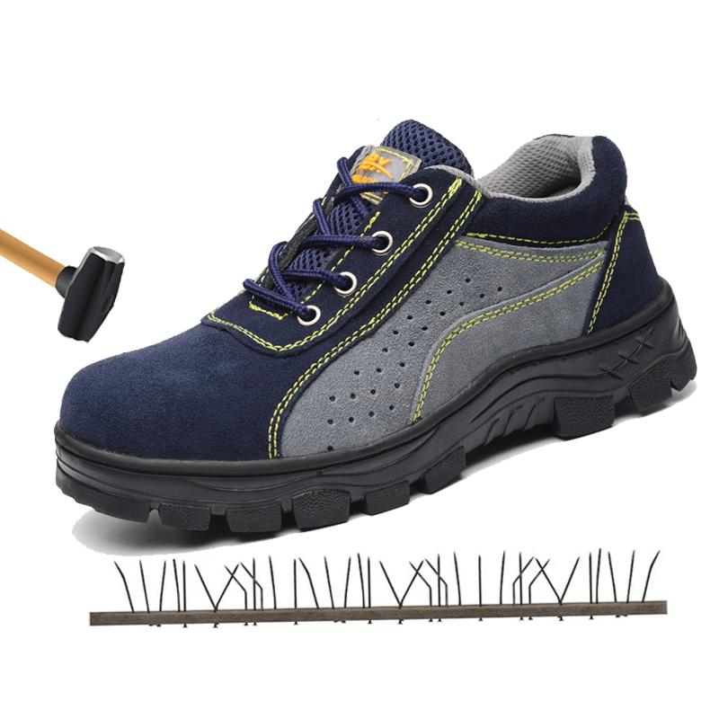 256e5ee71ec Steel Toe Cap Work Safety Shoes Men Outdoor Anti-slip Steel Puncture Proof  Construction Safety Boots Shoes