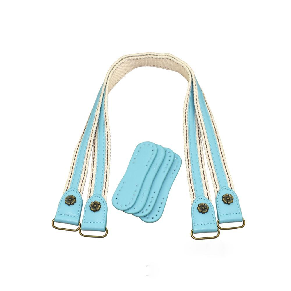 MeeTee R-160 handbag hardware accessory Ribbon Replacement Hand Belts with Metal ring for Woman leather Bag Straps