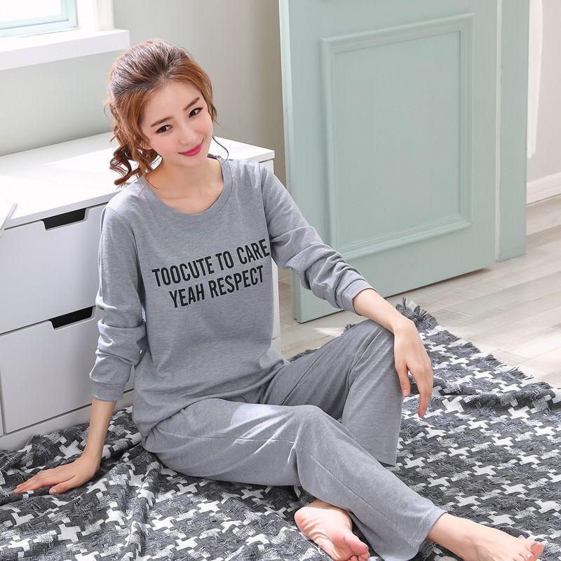 0af6ec3db Compre 1 Unids Al Por Mayor Para Mujer Pijamas Set Otoño Invierno Espesar  Algodón Pijamas Mujeres Patrón De Dibujos Animados Pijama Pijamas Conjunto  Delgado ...