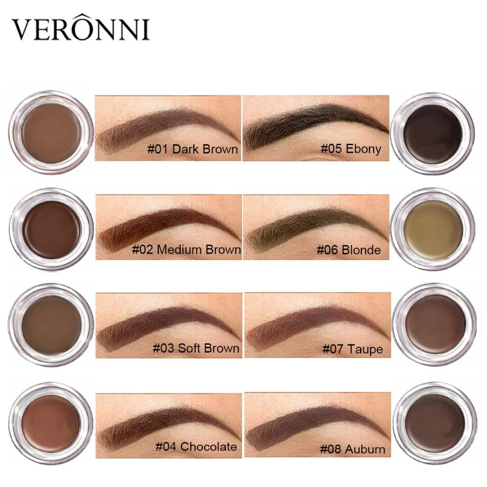 Veronni Henna Eyebrow Tint Makeup Waterproof Eyebrow Pomade Gel