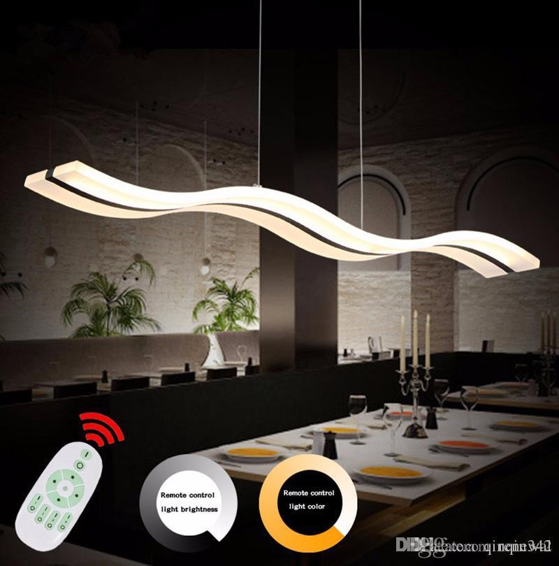 Lampade a led Lampadario moderno Acrilico Cucina Lamparas De Techo  Illuminazione domestica Per AC85-260V Sospensione Apparecchio Luci Luci a  LED