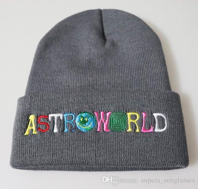07a8ebcb62d Knitted Hat 2019 New ASTROWORLD Beanie Embroidery Astroworld Ski Warm  Winter Unisex Travis Skullies Beanies Hat Beanie Hats For Women Embroider  Online with ...