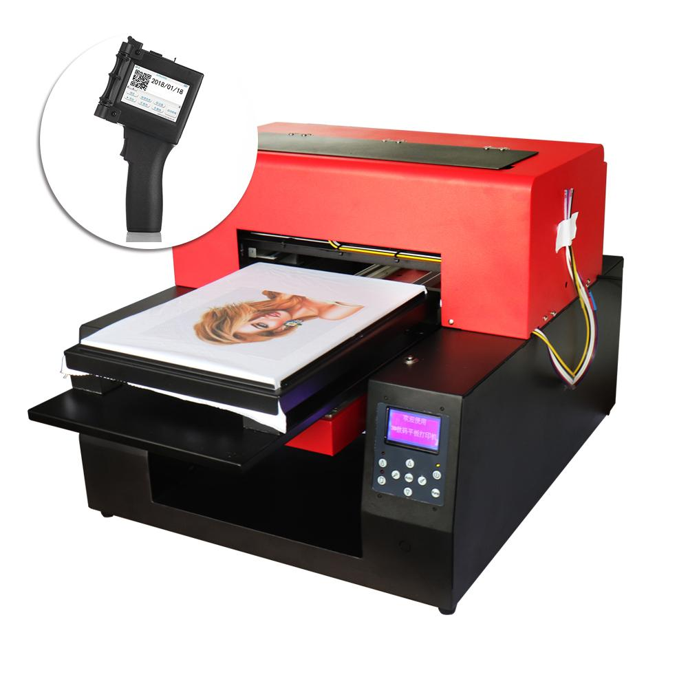 e4da8fa1 DIY T-shirt Printer Automatic A3 Flatbed Printer For White and Dark T-shirt  & Portable Handheld Packing Inkjet