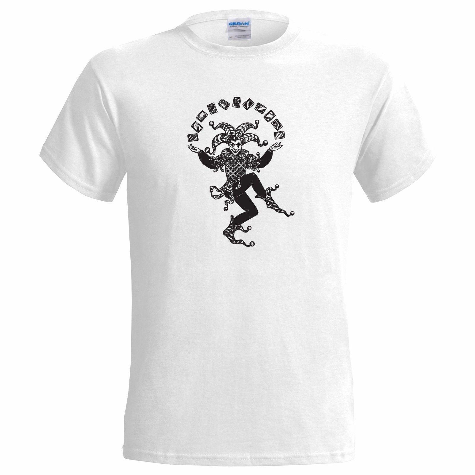 949849f1 Joker Card Juggler MENS T SHIRT Jester Magic Tarot Poker Playing Cards Deck Of  Funny 100% Cotton T Shirt Fear Cosplay Liverpoott Tshirt Mens Tee Shirts  Rude ...