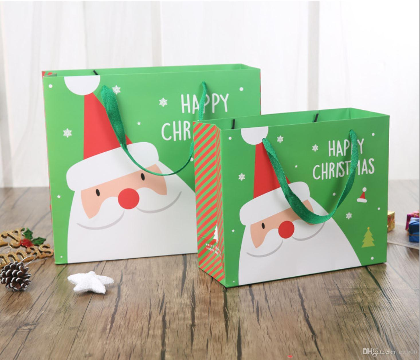 Sacs En Papier Cadeau Retro Elk Motif Pere Noel Emballage Sacs Cadeaux Fete De Noel Mariage Mariage Bonbons Cookie Emballage Sacs