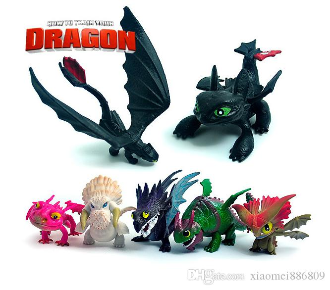 7pcs set pvc action figure toy como treinar seu dragão doll