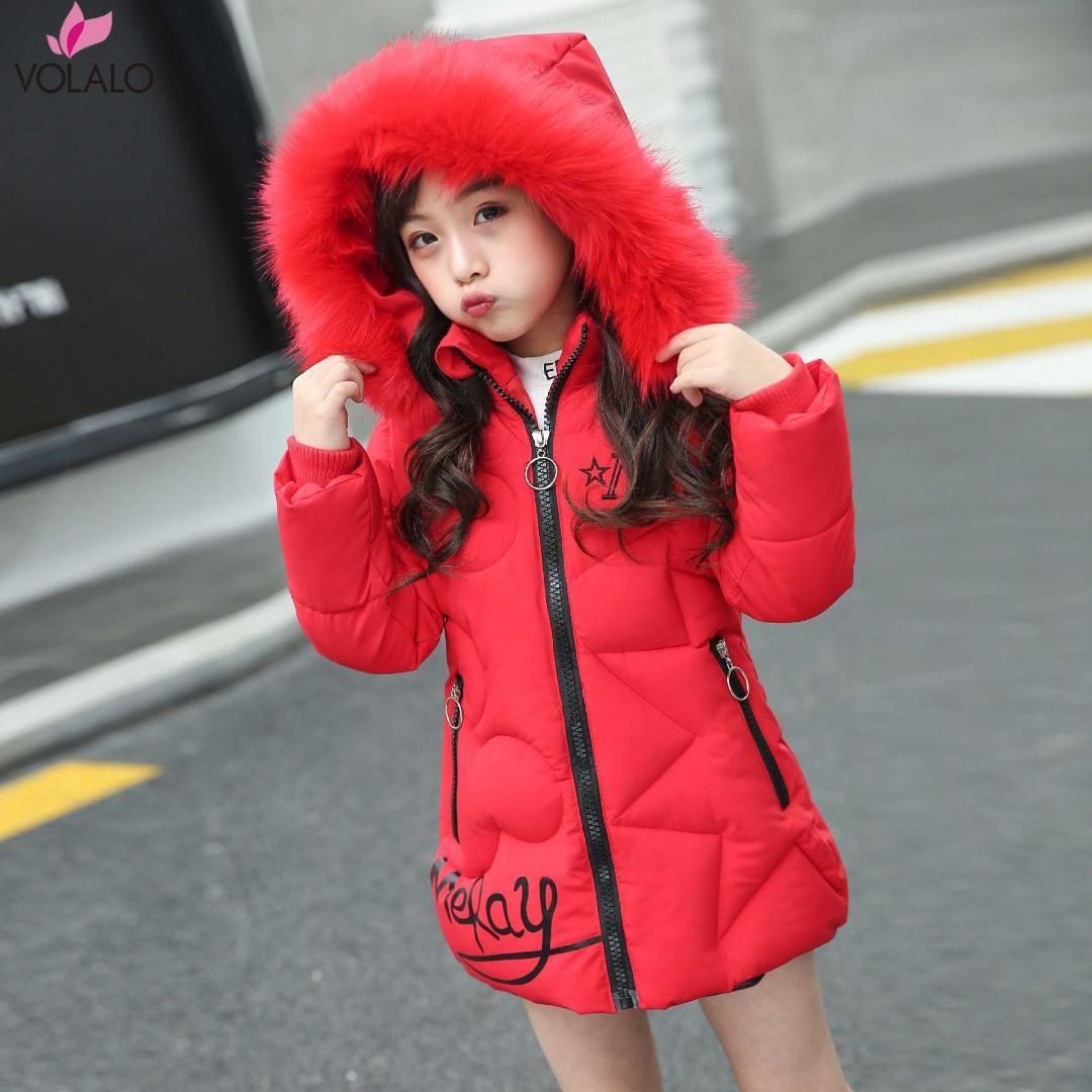 5b98d8294d81 2018 Korean Brand Girls Jackets Kids Faux Fur Collar Detachable ...