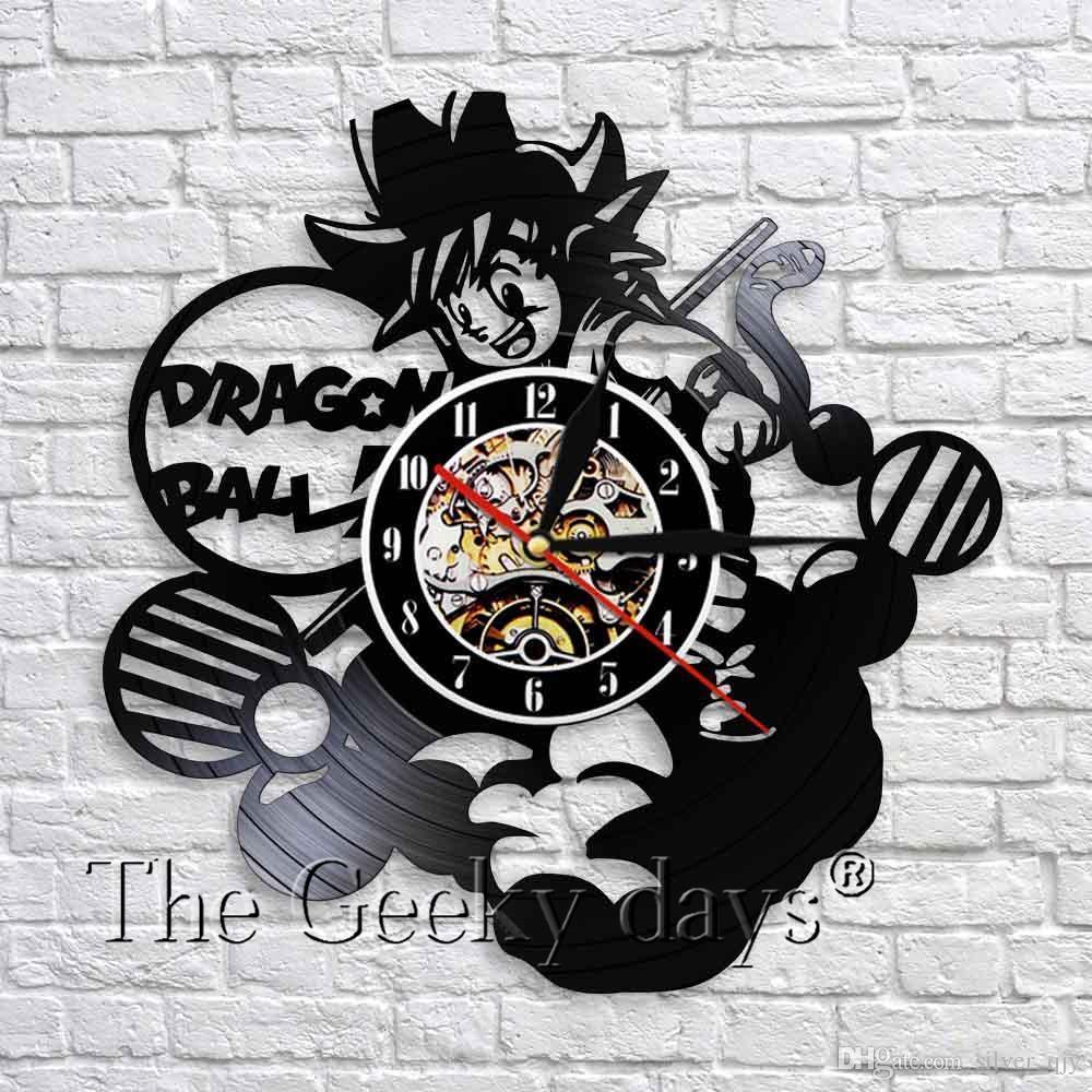 b2782a8d5bc Compre 1 Peça Dragon Ball Z Goku Relógio De Parede De Vinil Recorde  Criativo Dos Desenhos Animados Pendurado Relógio De Parede Berçário Art  Wall Decor Para ...