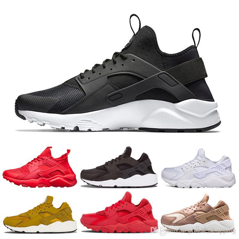 quality design b0b82 0601d Acquista 2019 Huarache 4.0 1.0 Sneaker Scarpe Da Corsa Da Donna Da Uomo  Triple Black Huaraches Da Ginnastica Traspirante Scarpe Da Esterno Taglia  36 45 A ...