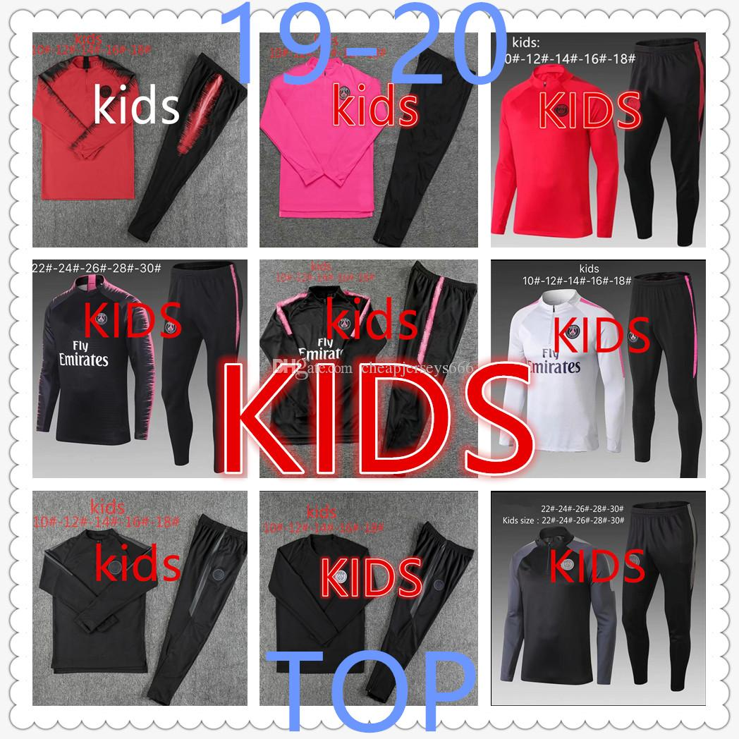 photos officielles 7d0f6 3a39f survetement foot kids psg jordan Paris Saint Germain mbappe messi  Survêtement de football training suit enfant designer tracksuits barcelona  soccer ...