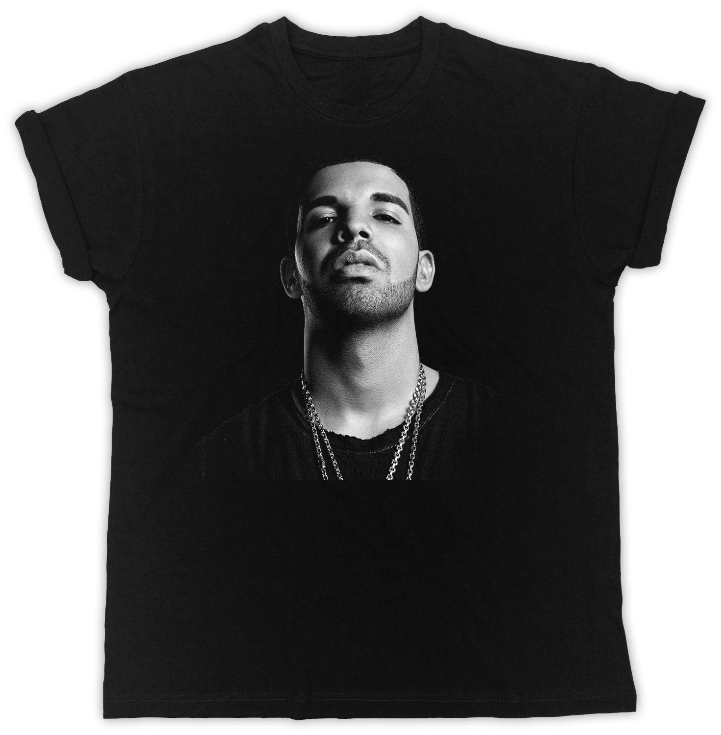 758dce6526017 DRAKE COOL RETRO IDEAL GIFT BIRTHDAY PRESENT SHORT SLEEVE UNISEX BLACK  TSHIRT Short Sleeve Plus Size T Shirt One Day Only T Shirts Limited T Shirts  24 Hours ...