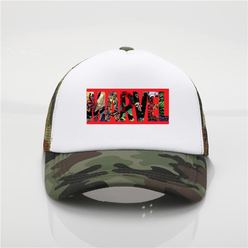 Super Hero Marvel Printed Baseball Cap Adjustable Dad Hat Super Hero Marvel  Logo Sun Cap Women Summer Hip Hop Hat Cool Hats Lids Hats From Menceng1986 5f021379e557