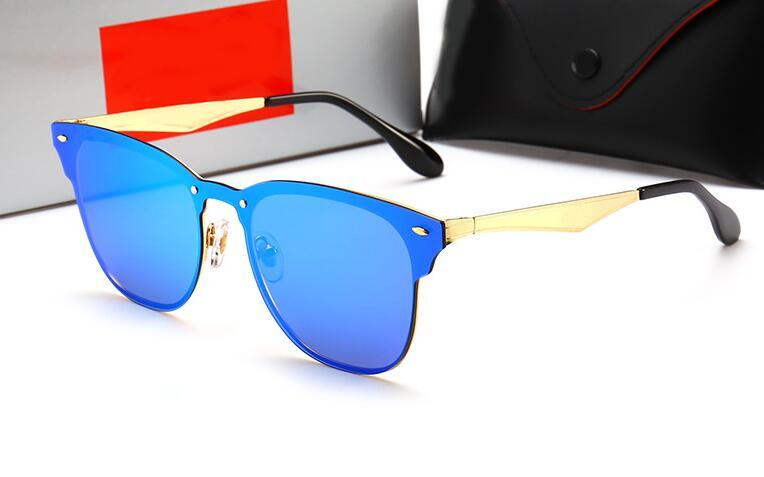 High quality men luxury polarized sunglasses metal bright frog mirror trend mens polarized Sun sunglasses 3576 With Case and box