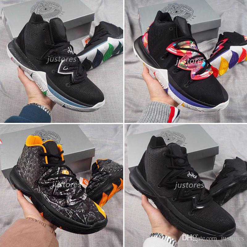 b766620c5324 2019 New Arrival TOP Man Basketball Shoes 5 EP Zoom Sport Trainer Sneakers  Kyries Black Magic Shoe Basketball Online Shoes Cheap Shoes From Justores