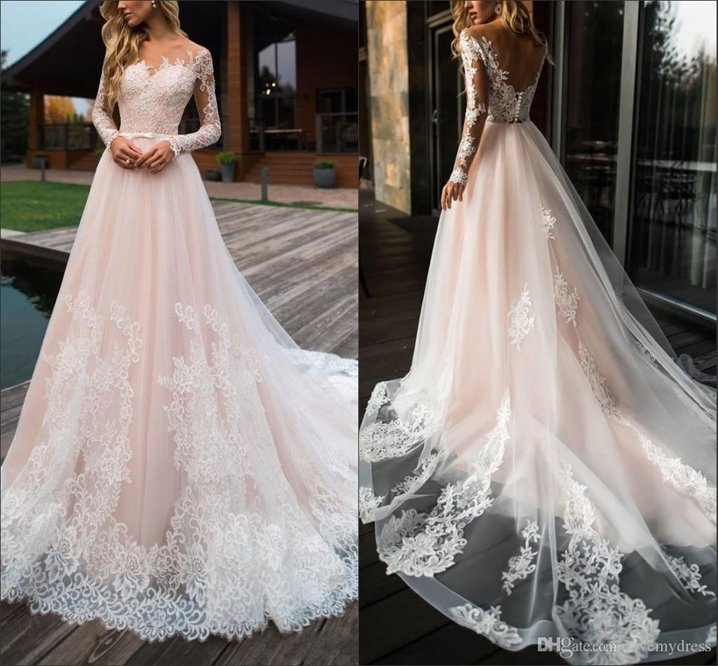 c21e7f13d7 Wedding Dresses With Lace Sleeves And Open Back - Gomes Weine AG