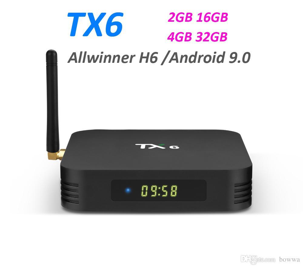 Tanix TX6 Android 9 0 TV Box Allwinner H6 Quad Core 2 4G Wifi Media Player  4K Ultra HD Set Top Boxes 4GB RAM 32G ROM 2G16G TV box