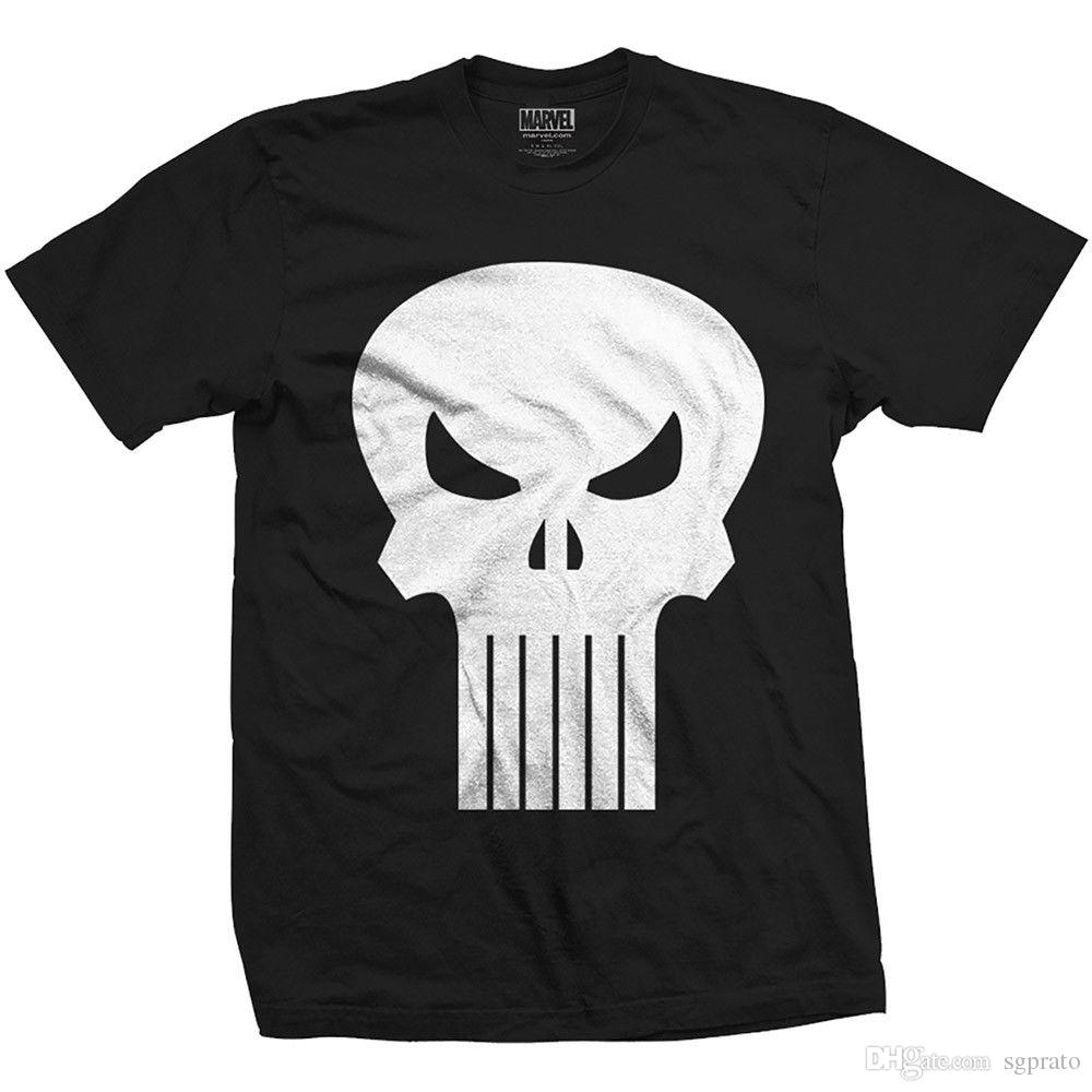 d5e86692b9eee Official The Punisher Skull Frank Castle Marvel Comics T Shirt Tee Shirt  Online Shopping 24 Hour Tee Shirts From Sgprato