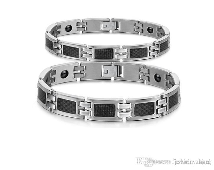 Brand new 316L stainless steel bracelet lover's gifts men's bracelets fashion jewlleries with healthcare magnets hand link chain G F51