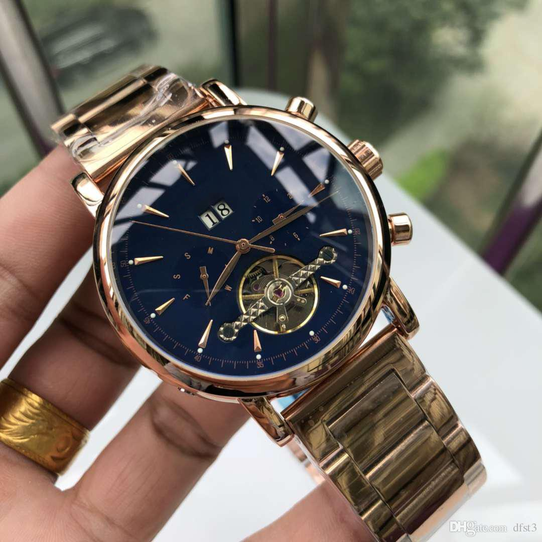 9bb431934 2019 New Fashion Men'S Luxury Watch 316 Stainless Steel Leather Belt Casual  Sports Brand Tourbillon Automatic Mechanical Watch Buy A Watch Online  Watches ...