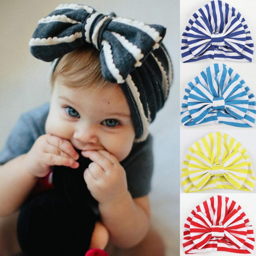 3365b6b1689 2019 New Soft Cute Baby Toddler Kids Boy Girl India Hat Stripe Bowknot  Lovely Soft Hat Comfortable Touch High Quality Gift From Kareem11