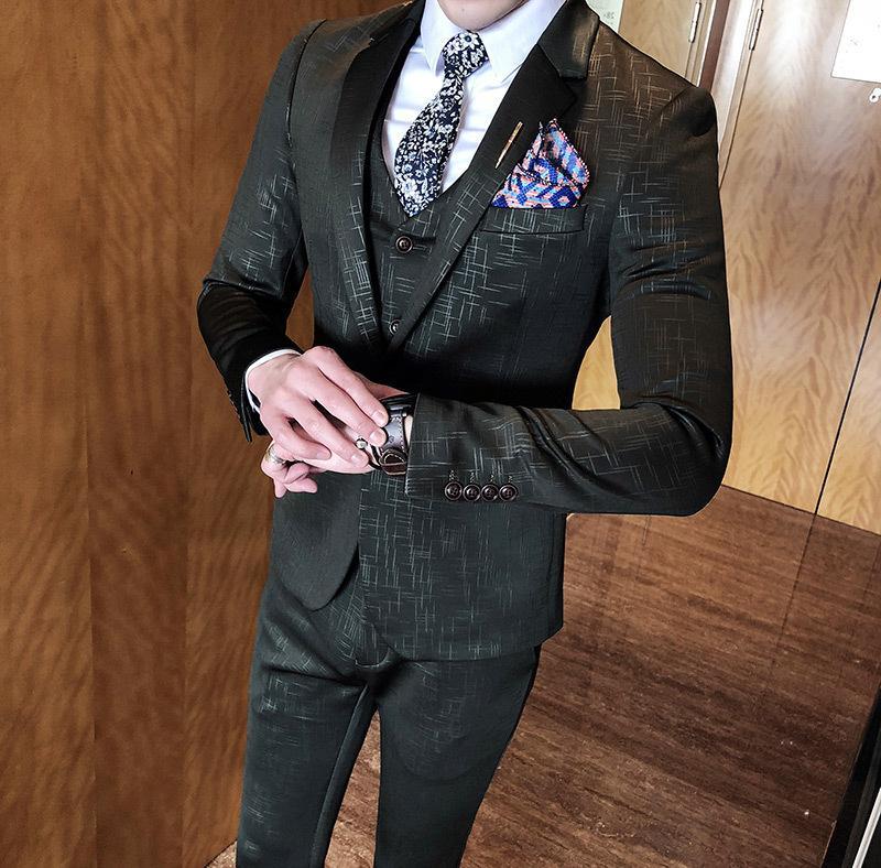 Compre 2019 Nuevos Trajes Elegantes De Los Hombres Vestido Clásico De La  Vendimia Gris Trajes Para Hombre Elegante Casual Hombres Traje Banquete De  Bodas ... 69a77eebc5d