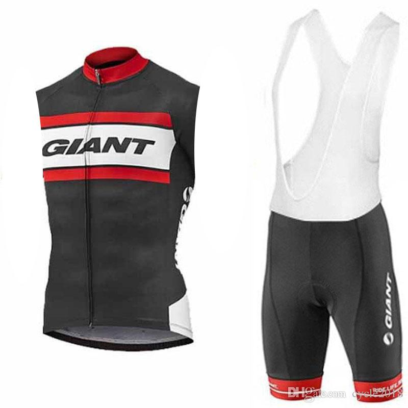 2019 pro team GIANT Mens Cycling Sleeveless Jersey Set Summer breathable Mtb Bike Clothing Bicycle Sportswear Ropa Ciclismo