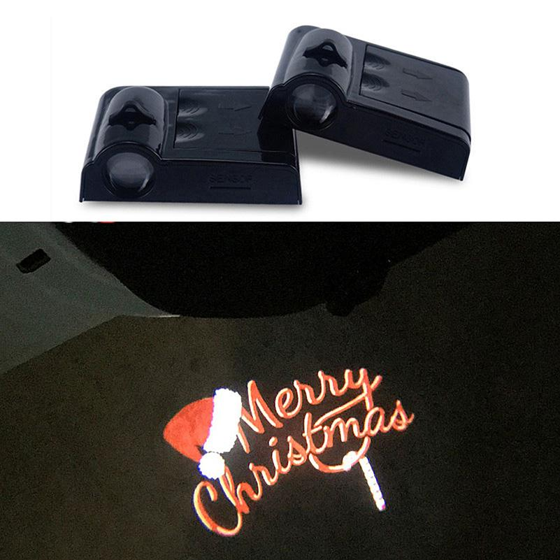2019 Battery Operated Laser Projector Light Welcome Merry Christmas