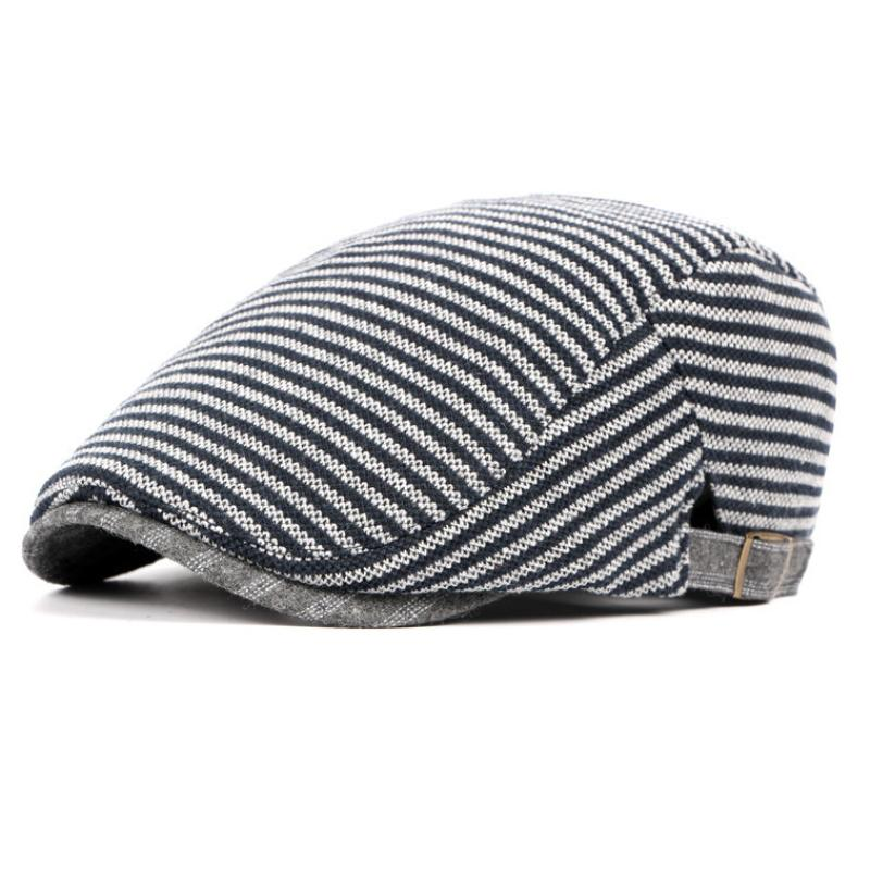 Compre HT751 Sombreros De Estilo Británico Para Hombre Sombreros De Boina  Rayados Para Hombres Unisex Gorros De Periódicos Chaquetas Con Estilo  Gastby ... b08b213a1b1