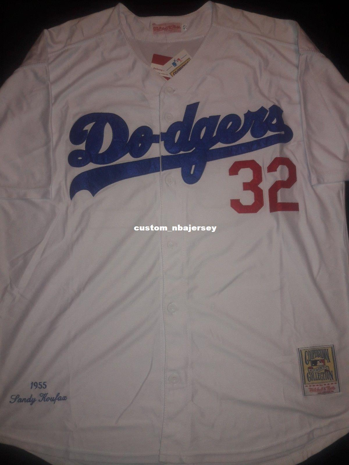 25c37dad980 2019 Cheap Sandy Koufax 1955 Retro Jersey Stitched Customize Any Number  Name MEN WOMEN YOUTH XS 5XL From Custom nbajersey