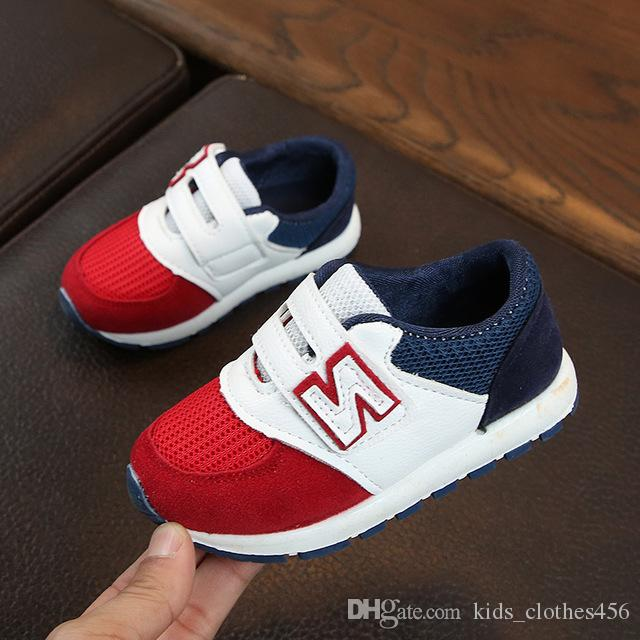 4457b24c435 Boys Girls Fashion Brand Sneakers Children School Sport Trainers Baby  Toddler Little Big Kid Casual Skate Stylish Designer Shoes