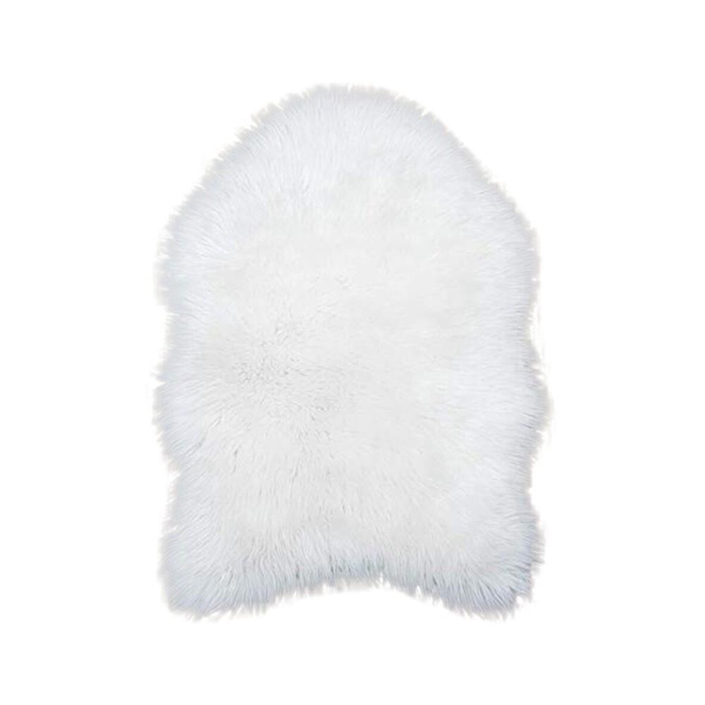 Faux Fur Rug White Sheepskin Rug Mat Carpet Pad Anti Slip Chair Sofa Cover For Bedroom Home Decor Faux Fur Xtn