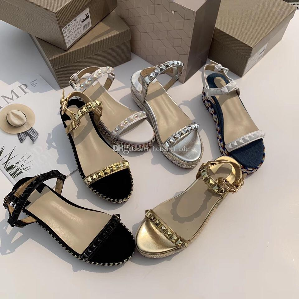 Luxury Designer Sandals Thick Heels Fashion Luxury Designer Women Shoes Black Wedding Party Dress Shoes