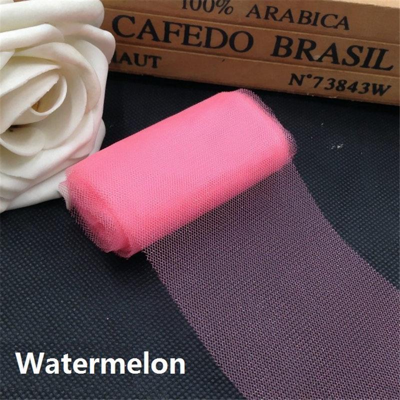 6 см * 5 м тюль рулон катушка ткани пачка поделки юбка подарок ремесло ну вечеринку лук тюль рулоны свадьба украшение поделки пачка ткани
