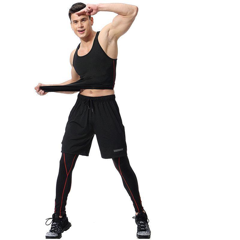 Compre Pantalones Cortos Para Hombre De Verano Trajes Casuales Ropa  Deportiva Ropa Para Hombres Conjuntos De Hombres Pantalones + Pantalones +  Pantalones ... 36587c9f2f7ef