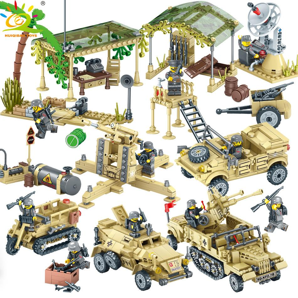 1764pcs Jungle Army Vehicles Soldiers Building Blocks Compatible Military Weapon Bricks Educational Toy for children