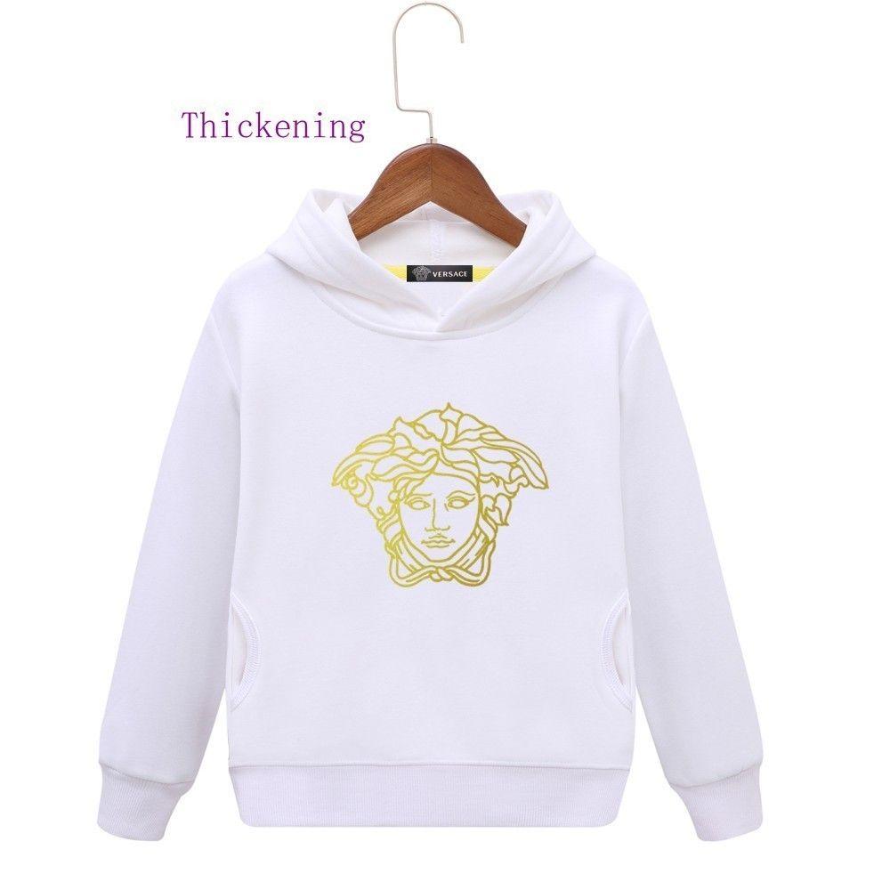 7ce0a2584d39 Kids Brand Hoodies Winter Clothes Plus Cashmere Even Hat Girl ...
