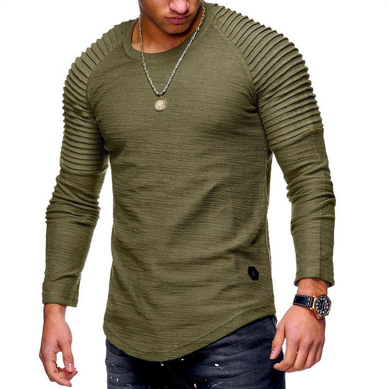 5485d80fa4d Long Sleeve T-Shirt Casual Summer Autumn Men Tops Street Wear Slim ...