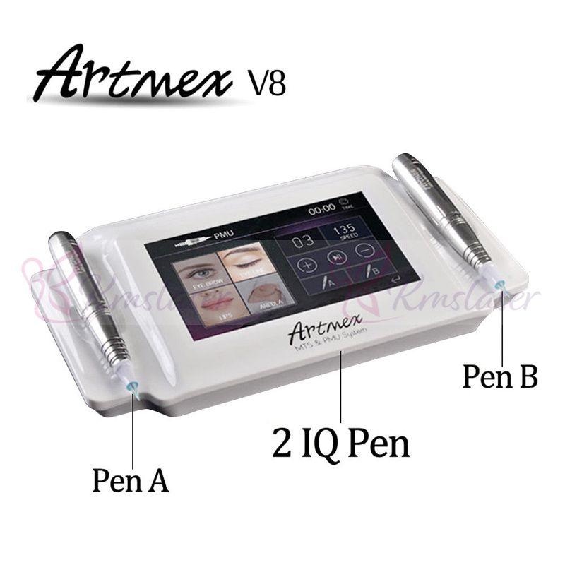 Artmex V8 Modello del sopracciglio del tatuaggio permanente di trucco Macchina Fai upLip rotativa del tatuaggio della macchina forte motore Pen Gun