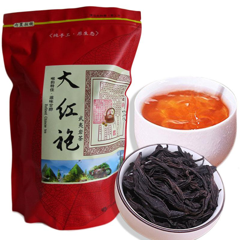 Preferred 250g Chinese Organic Black Tea Dahongpao Big Red Robe oolong Red Tea Health Care New Cooked Tea Green Food Sealing strip packaging