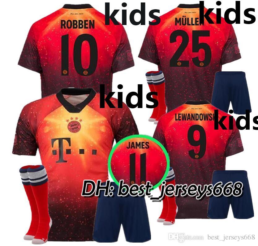 cheap for discount c24b2 976df KIDS KIT 18 19 EA Sports digital INSANE Bayern Munich SOCCER JERSEYS JAMES  2019 MULLER LEWANDOWSKI Special Outstanding CHILD football shirts